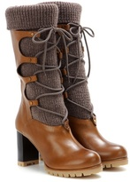 Chloé Leather And Wool Boots