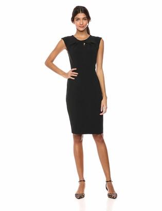 Lark & Ro Amazon Brand Women's Sleeveless Twist Neck Knot Sheath Dress