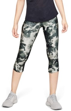 Under Armour Women's Fly Fast HeatGear Printed Cropped Running Leggings