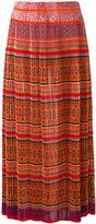 Mes Demoiselles pleated tile-print skirt - women - Polyester - 36