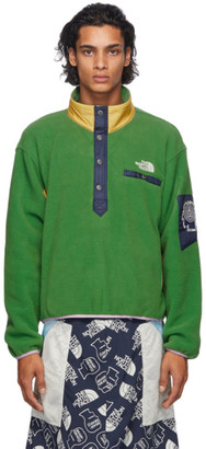 Brain Dead Green The North Face Edition Fleece Pullover Sweatshirt