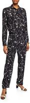 Rag & Bone Therese Printed Long-Sleeve Jumpsuit