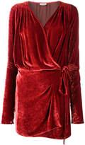 ATTICO velvet wrap mini-dress