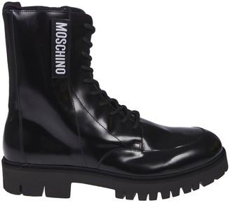Moschino Side Zipped Logo Boots