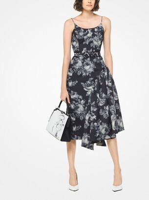 Michael Kors Chine Floral Mikado Pannier Slip Dress