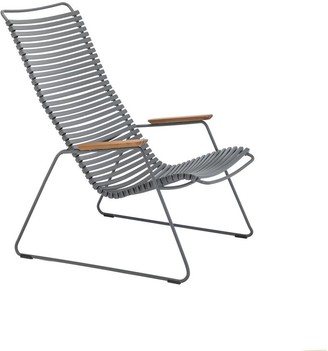 Ecc Lighting & Furniture Click Outdoor Lounge Chair Dark Grey