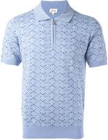 Brioni heart check polo shirt - men - Silk/Wool - 52
