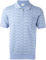 Brioni heart check polo shirt