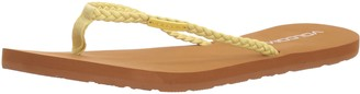 Volcom Women's Weekender Braided Synthetic Leather Strap Fashion Sandal Flat