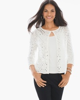 Chico's Sequin Sammie Cardigan