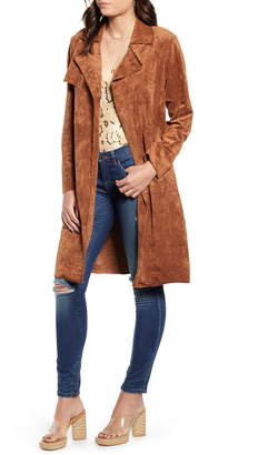 Blank NYC BLANKNYC Faux Suede Trench Coat