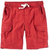 Carter's Toddler Boy Red Canvas Cargo Shorts