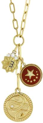 Foundrae Wholeness, Strength and East Mini Course Correction Medallion Necklace