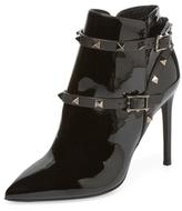 Valentino Garavani Studded Patent Leather Bootie