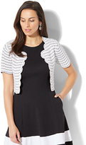 New York & Co. 7th Avenue - Scalloped Dress Cardigan - White