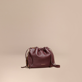 Burberry Grainy Leather and House Check Crossbody Bag