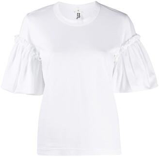 Comme des Garcons ruffle-sleeve cotton T-shirt