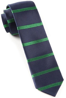 The Tie Bar Classic Navy Road Horizontal Stripe Tie