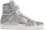 Saint Laurent Glittered leather sneakers