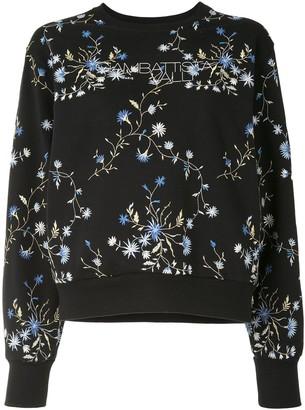 Giambattista Valli Floral-Embroidered Sweatshirt
