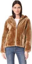 Vince Shearling Hooded Jacket