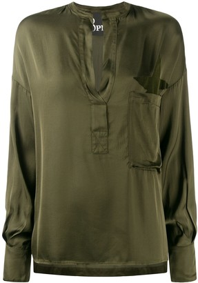 8pm Military-Style V-Neck Shirt