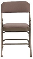 BEIGE Laduke Fabric Padded Folding Chair Symple Stuff Color