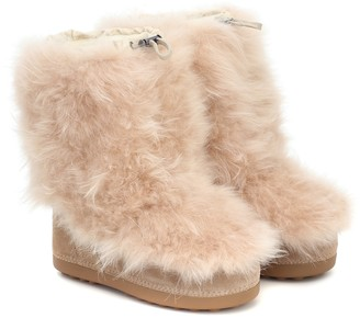 Bogner Tignes cashmere and suede snow boots