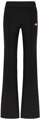 Off-White Black Logo Striped Stretch-jersey Sweatpants