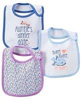 Carter's 3-Piece Baby Girl Bib Set, Auntie's Dinner Date / Tweet
