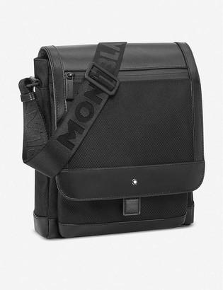 Montblanc Nightflight leather and nylon reporter bag