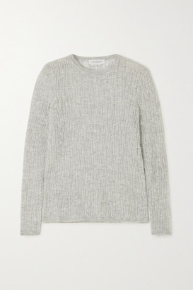 Gabriela Hearst Carey Open-knit Cashmere And Silk-blend Sweater - Light gray