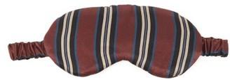 ASCENO London Sandwashed-silk Eye Mask - Burgundy Stripe