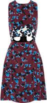 Tanya Taylor Mallory cutout printed silk mini dress