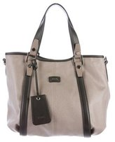 Tod's Metallic Canvas Satchel