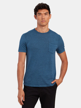 John Varvatos Ames Short Sleeve Burnout Raw Edge Crew