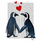 Asstd National Brand Penguins With Love Hearts Canvas Wall Art