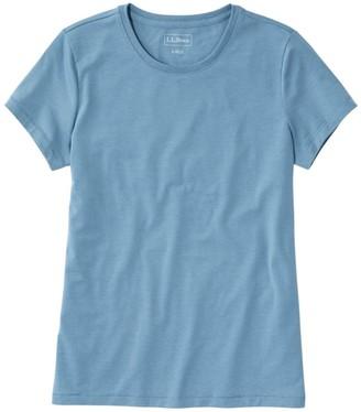 L.L. Bean Women's Soft Stretch Supima Tee, Crewneck Short-Sleeve