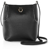 Karen Millen Small Embossed Duffel Shoulder Bag