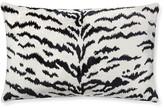 Scalamandre Tiger Lumbar Pillow Cover, White