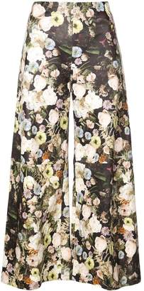 ADAM by Adam Lippes floral print cropped trousers