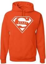 Tee Hunt Super Dad Hoodie Funny Superhero Father's Day Sweatshirt L