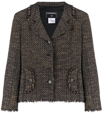 Chanel Pre Owned 2003 Slim-Fit Woven Jacket