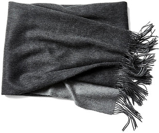 A & R Cashmere Reversible Cashmere-Blend Throw - Gray - a&R Cashmere