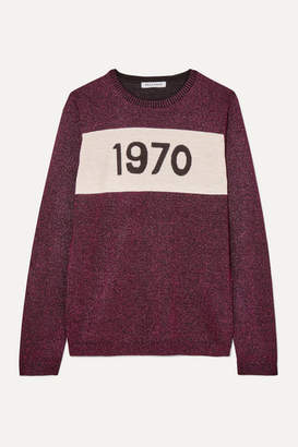 Bella Freud 1970 Metallic Wool-blend Sweater - Pink