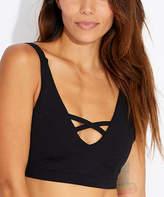 Pact Women's Bralettes Black - Black Criss-Cross Organic Cotton Bralette - Women