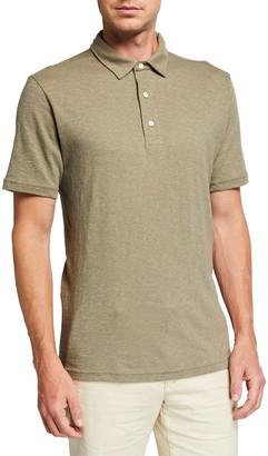 Faherty Men's Reserve Cotton-Linen Polo Shirt