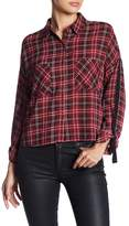 BB Dakota Emiley Plaid Blouse