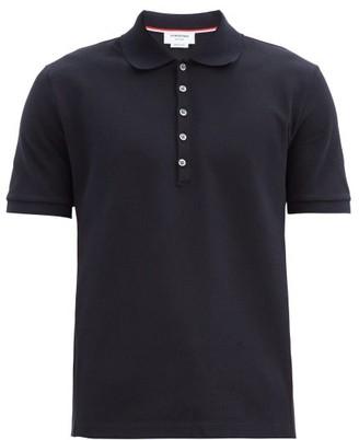 Thom Browne Four-bar Cotton-pique Polo Shirt - Navy