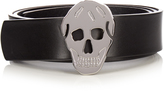 Alexander McQueen Skull-buckle leather belt
